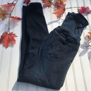AG Dark Indigo Skinny Maternity Jeans